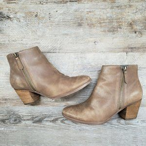 Crown Vintage Sandy Booties Block Heel Ankle Boots